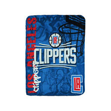 """New Northwest NBA Los Angeles Clippers Large Soft Fleece Throw Blanket 50"""" X 60"""""""