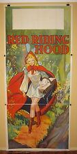 RED RIDING HOOD c1930s Original vintage English stage play poster pantomime