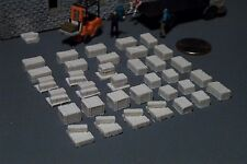 35 Wood Crates in ASSORTED Styles and Sizes HO SCALE