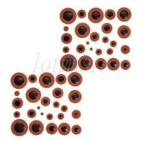 2 Sets Orange Leather Alto Saxophone Pads for Yamaha Orange Sax Part replacement