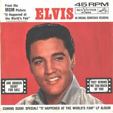 ELVIS PRESLEY--PICTURE SLEEVE + 45--(ONE BROKEN HEART FOR SALE)--PS--PIC--SLV