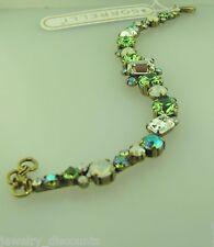Bcr137Agga antique gold tone Sorrelli Green Apple Bracelet
