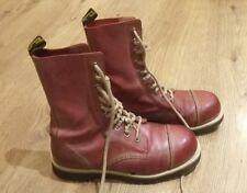 Pinky Rosso DOC Martens Stivali Taglia 7 UK 41 EU Dr Martins