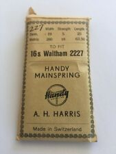 Handy Mainspring 16 S WALTHAM 2227 Made In Switzerland Never Opened A H Harris