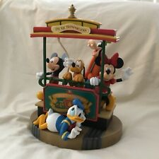 Disney Mickey Minnie Mouse Goofy Donald Pluto MAIN STREET Large Figurines Statue