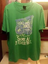 "Vintage 90s Screen Stars Shirt Rolling Rock Green Beer ""Same As It Ever Was"" Xl"