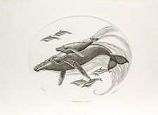 J. D. Mayhew Limited Edition Engraving - Humpback Whales