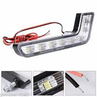 Car L Shape Auto Daytime Running Light 8LED DRL Fog Driving Daylight  Head Lamp