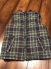 Kids Headquarters Boys Size 4 Green Plaid Puffer Vest