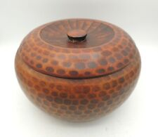 Vintage Kashiki Snack Bowl with Cover Lacquer Ware Japan Large