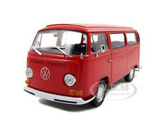 Box Dented 1972 VOLKSWAGEN T2 BUS VAN RED 1/24 DIECAST MODEL BY WELLY 22472
