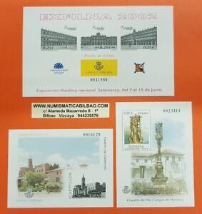 3 PRUEBA LUJO España 2002 EDIFIL Nº 77+78+79 EXFILNA CASTILLO CALATORAO CRUCEIRO