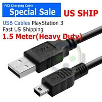 Sony Playstation PS3 Wireless Controller Remote Control USB Charger Cable Cord
