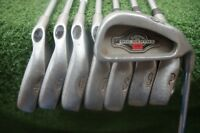 Callaway Big Bertha 1996 Steel Iron Set Stiff Flex Irons 3-PW 281820 Good Used