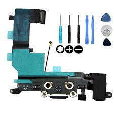BLACK - iPhone 5S USB Charging Dock Port & Mic & Headphone Jack Flex Cable
