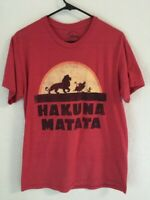 Disney The Lion King Movie Hakuna Matata Simba Timon Pumba Vtg Men's T Shirt Red