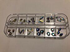 cajita con 36 cristales para las uñas