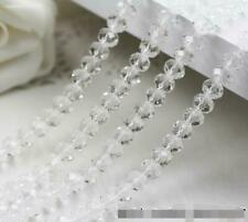 New 4mm 71pcs Faceted Rondelle Bicone Crystal Jewelry Beads  white  transparen