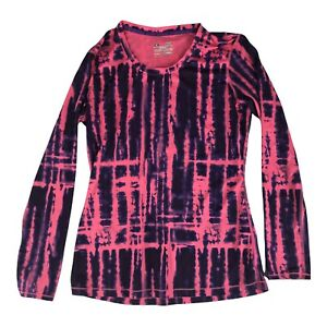 Under Armour Medium Crew Neck Fitted Pullover Long Sleeve Shirt Top  Pink Purple