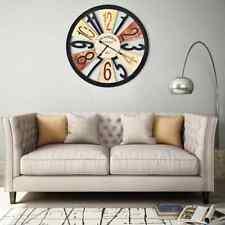 vidaXL Horloge Murale Métal 60 cm Multicolore Salon Salle de Séjour Chambre