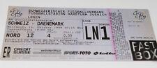 Ticket for collectors EURO q * Switzerland - Denmark 1998 in Zurich