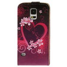 TPU Case Hülle zu Samsung Galaxy S5 / SM-G900F / GT-I9600 Cover Herz mit Blumen