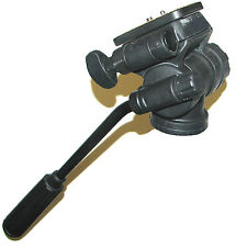 NEW BLACK CAMERA TRIPOD HEAD WITH FLUID EFFECT 3 WAY PAN & TILT