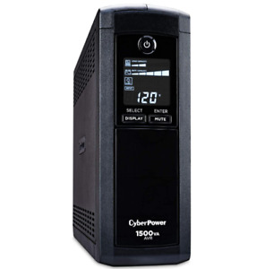 NEW CyberPower CP1500AVRLCD Intelligent LCD UPS System, 1500VA/900W, 12 Outlets