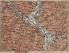 BAD RAGAZ. Malbun Flums Wangs Pizol Sargans Grusch Malans Maienfeld 1920 map