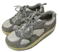 Skechers Shape-Ups Womens Size 8.5 Walking Rocker Athletic Shoes Gray Pink 11806