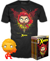 Dark Phoenix Orange Translucent X-Men Funko Pop Vinyl +T-Shirt New in Sealed Box