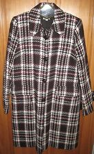 "Maternity Blazer Jacket Coat Wool Plaid Houndstooth ""A Pea in the Pod"" Woman S M"