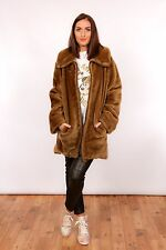 70s vintage teddy bear style faux fur coat