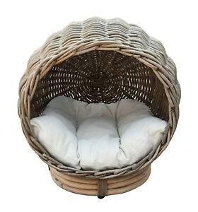 Hand Woven Cat Cave Condo Bed
