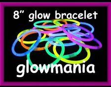 "12x 8 ""Glow Sticks Pulseras Hen party en un arco iris de colores Glow Party"