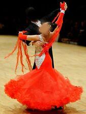 U0028 Women Ballroom tango waltz standard dance competition dress Custom made