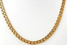 Hombre/mujer 18K Oro Lleno Collar Cadenilla De Acero Inoxidable 7 mm.