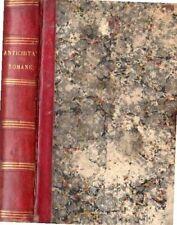 LEZIONI SULLE ANTICHITA' ROMANE SACERDOTE  NICOLA DEL BUONO 1836 (NA638)