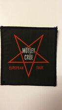 Motley Crue European Tour vintage RARE music rock glamrock Sew On aufnaher patch