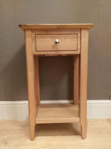 Bergen Light Oak 1 Drawer Telephone Table / Hallway Unit / Scandinavian Storage