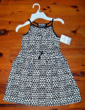 Girls CARTER'S Black & White Triangle Diamond Sleeveless Sundress Dress Size 5