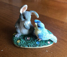 "Charming Tails ""A Little Bird Told Me"" Rabbit And Bird Figurine"
