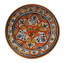 "Moroccan Ceramic Plate Salad Pasta Bowl Serving Handmade Wall Hanging 8"" Small"