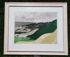 John Bursdon (1933-2014)  Derbyshire Mills Landscape Print Etching 29/125