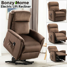 Electric Lift Recliner Chair Padded Overstuffed Living Room Sofa For Elderly