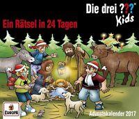 DIE DREI ??? KIDS - ADVENTSKALENDER-EIN RÄTSEL IN 24 TAGEN  3 CD NEU