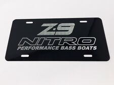 Nitro Z-9 Boats LOGO Car Tag Diamond Etched on Aluminum License Plate