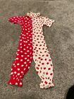 Vintage Kids Clown Costume; Red and White