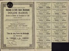 Dolok Baros Caoutchouc & Coffee 1910 - Sumatra Indonesia