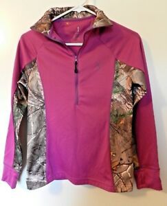 Browning Womens Camo Purple Long Sleeve Pullover Size Small